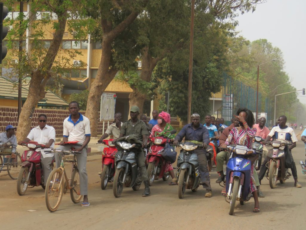 Traffic in Ouagadougou, Burkina Faso