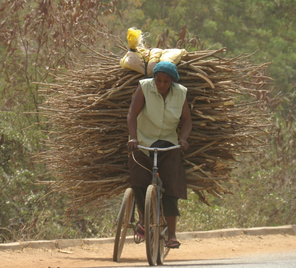 Loaded bike, Burkina Faso
